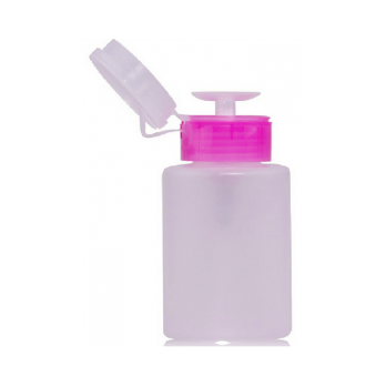 Помпа для жидкостей пластиковая круглая 150мл белая/розовая