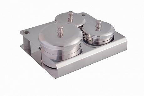 ARTEX Набор металлических емкостей с крышкой для акрила и мономера 3 шт.