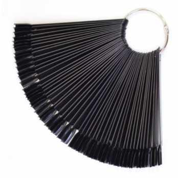Типсы черные на кольце 50шт