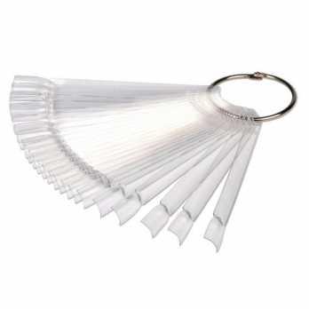 Типсы веер на кольце (50шт) прозрачные
