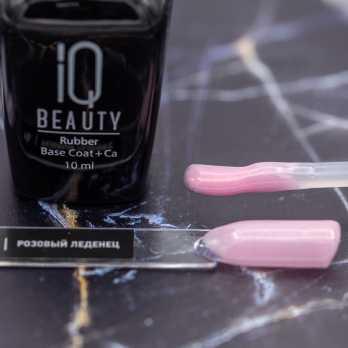 IQ Beauty 10 Камуфлирующее базовое покрытие с шиммером каучуковое с кальцием IQ BEAUTY, Розовый леденец, 10 мл
