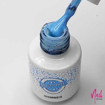 BF59-4 Гель-лак для покрытия ногтей. Shimmer #59 Небесно-голубой Beauty Free