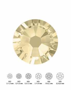 Стразы стеклянные MIX JONQUIL (светло-желтый) №3 №4 №6 150 шт