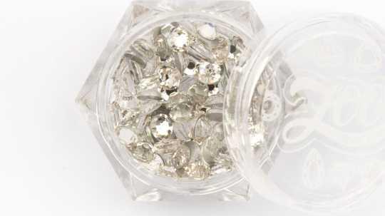 Стразы стеклянные прозрачные SS16 (4 мм) 100 шт 1085 Zoo Nail Art