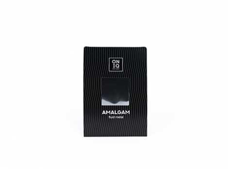 ONF-001 Фольга для дизайна ногтей. AMALGAM Fluid metal: Silver Nail Foil ONIQ
