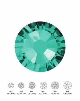 Стразы стеклянные MIX BLUE ZIRCON (бирюзовый) №3 №4 №6 150шт