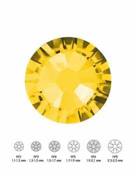 Стразы стеклянные MIX CITRINE (лимонный) №3 №4 №6 150 шт