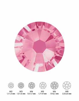 Стразы стеклянные MIX ROSE (розовый) №3 №4 №6 150 шт