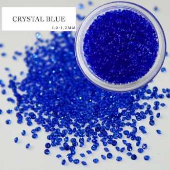 1021 Хрустальная крошка синяя 1000 шт