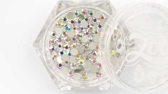 Стразы стеклянные прозрачные AB голография SS8 (2,5 мм) 100 шт 1090 Zoo Nail Art