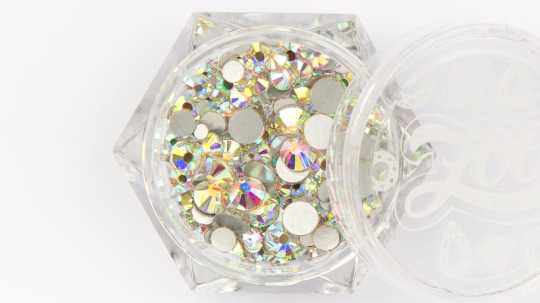 Стразы стеклянные прозрачные AB голография MIX (микс размеров) 200 шт 1093 Zoo Nail Art