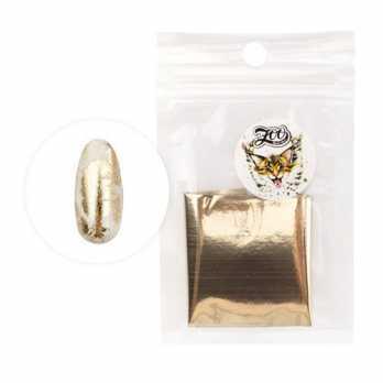 1415 Фольга переводная 4*50 см глянцевая белое золото