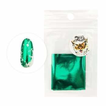 1421 Фольга переводная 4*50 см глянцевая зеленая