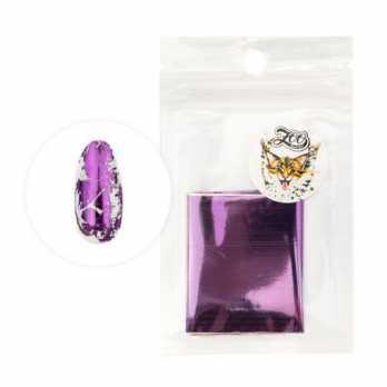 1425 Фольга переводная 4*50 см глянцевая фиолетовая