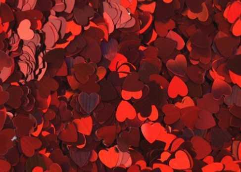 Сердечки для дизайна (DH 010, красный)