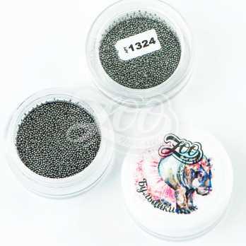 1324 Бульонки металлические черные 0,6 мм (10 г)