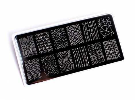 OTE-019 Пластина для стемпинга. Echo Line Art#1