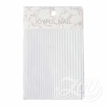 Наклейки полосочки белые1408 Zoo Nail Art