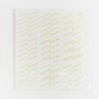 1413 Наклейки металлизированные молния золото