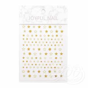 Наклейки звёздочки золото 1385 Zoo Nail Art
