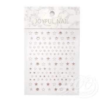 Наклейки звёздочки розовое золото 1386 Zoo Nail Art