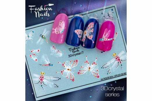 Fashion Nails слайдер 3D crystal