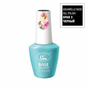 GPAB 3-9 Гель-лак Aquarelle Базовый черный 9 мл CNI