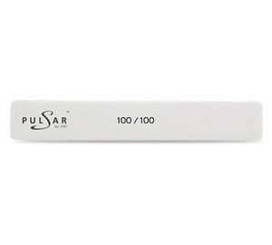 P.FMW 4-100/100 Пилка маникюрная прямая широкая белая EX