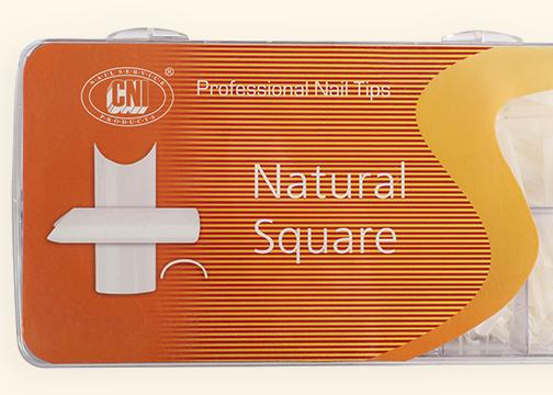 TANS 500 Типсы Arch Natural Square - Арочные Натуральный Квадрат (500 шт. в коробке)