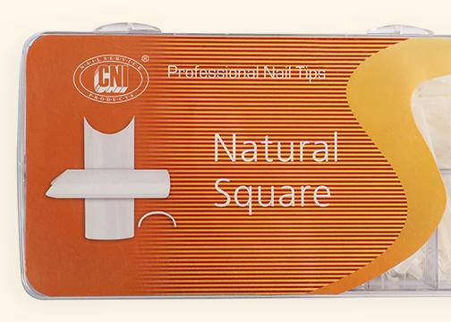 TANS 100 Типсы Arch Natural Square - Арочные Натуральный Квадрат (100 шт. в коробке)