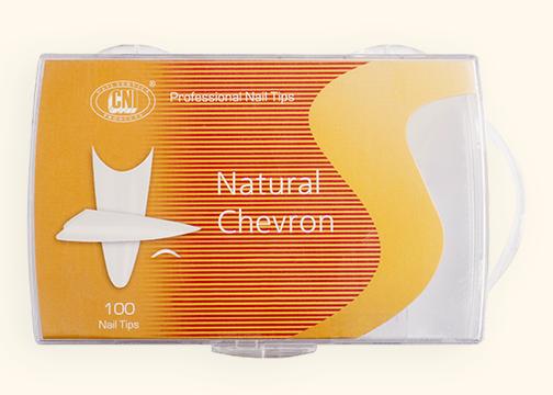 TANC 100 Типсы Arch Natural Chevron - Арочные Натуральный Шеврон (100 шт. в коробке)