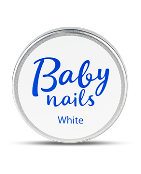 GBS 1-15 Baby Nails White gel - скульптурный белый гель (15 гр) CNI
