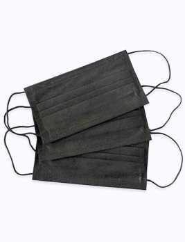 Маска медицинская 3-х слойная черная 50 шт.