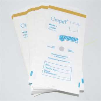 """Пакеты бумажные самоклеящиеся """"СтериТ 115*200"""" мм (крафт, 100шт)"""