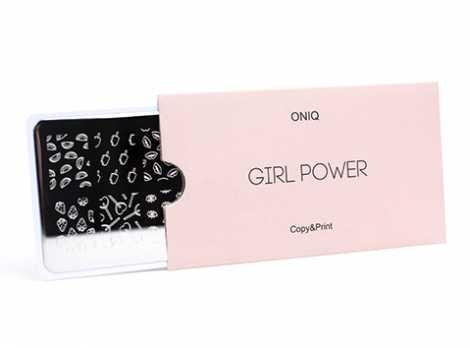 OTE-023 Пластина для стемпинга. Echo Girl Power#1