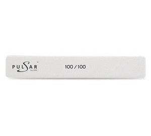 P.FMW 4-100/100 Пилка маникюрная прямая широкая белая 100/100