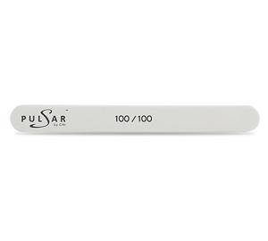 P.FMN 4-100/100 Пилка маникюрная прямая узкая белая