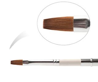 BMS 6-NWC (K 6H - 321Ф) Кисть из нейлона №6, деревянная ручка, в футляре