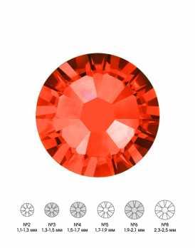 Стразы стеклянные MIX HYACINTH (оранжевый) №3 №4 №6 150 шт