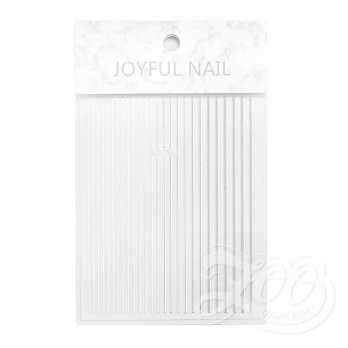 Наклейки полосочки серебро 1387 Zoo Nail Art