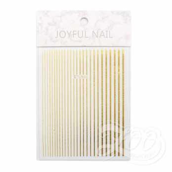 Наклейки полосочки золото 1388 Zoo Nail Art