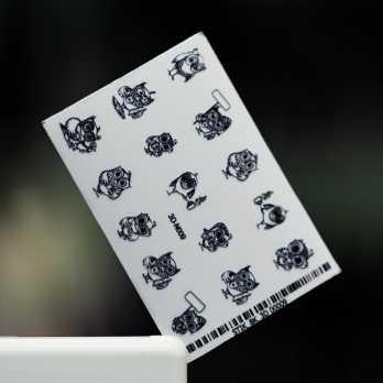 Стикер 3DN009 (черный)