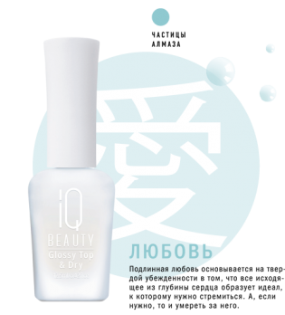 IQ Beauty Зеркальное защитное покрытие и сушка /Glossy Top & Dry, 12,5мл IQTR008