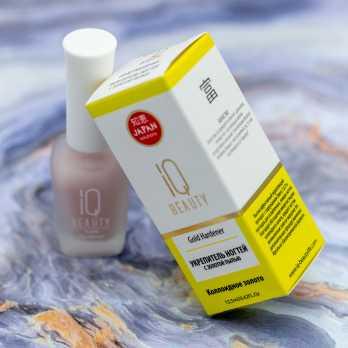 IQ Beauty Укрепитель ногтей с золотой пылью Gold Hardener, 12,5мл IQTR012
