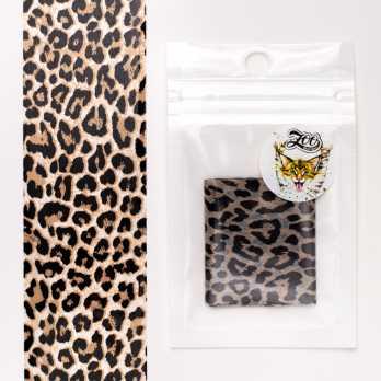 """1594 Фольга переводная 4*50 см """"Леопард"""" Zoo Nail Art"""