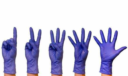 "Перчатки ZKS™ нитриловые ""Spectrum Prime"" темно-фиолетовые размер S (1000)"