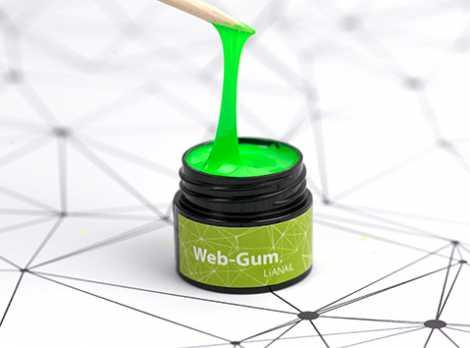 WSSO-022 Гель-краска для покрытия ногтей. Web-gum Салатовая неоновая LiANAiL